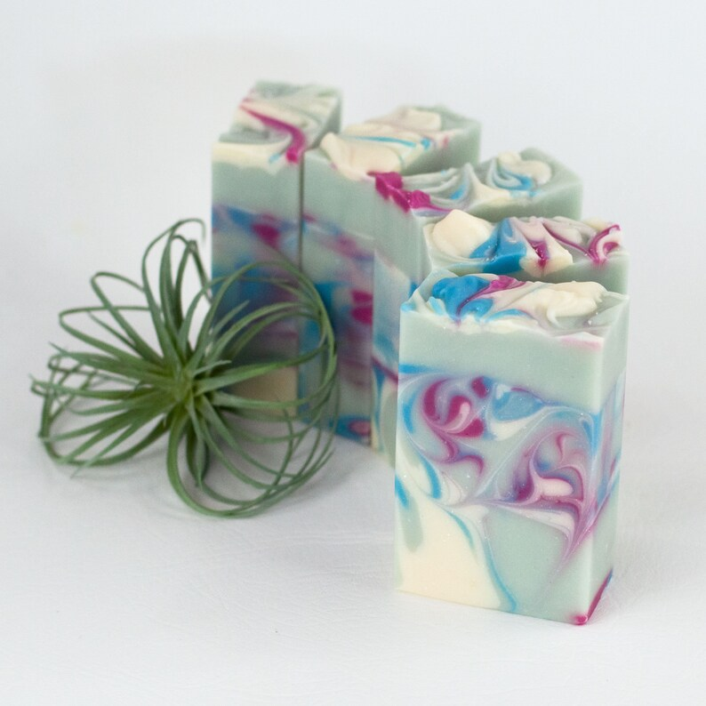 Handmade Vegan Soap Bar  Water Lily Jasmine  Floral Scents  image 0