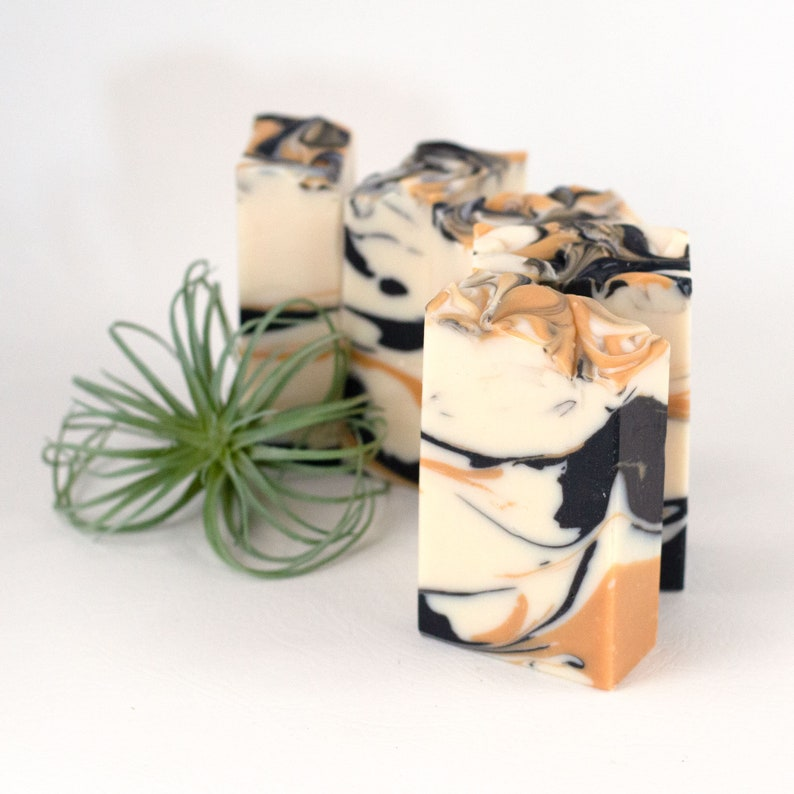 Thinking of You Gift for Her  Handmade Vegan Soap  Black image 0