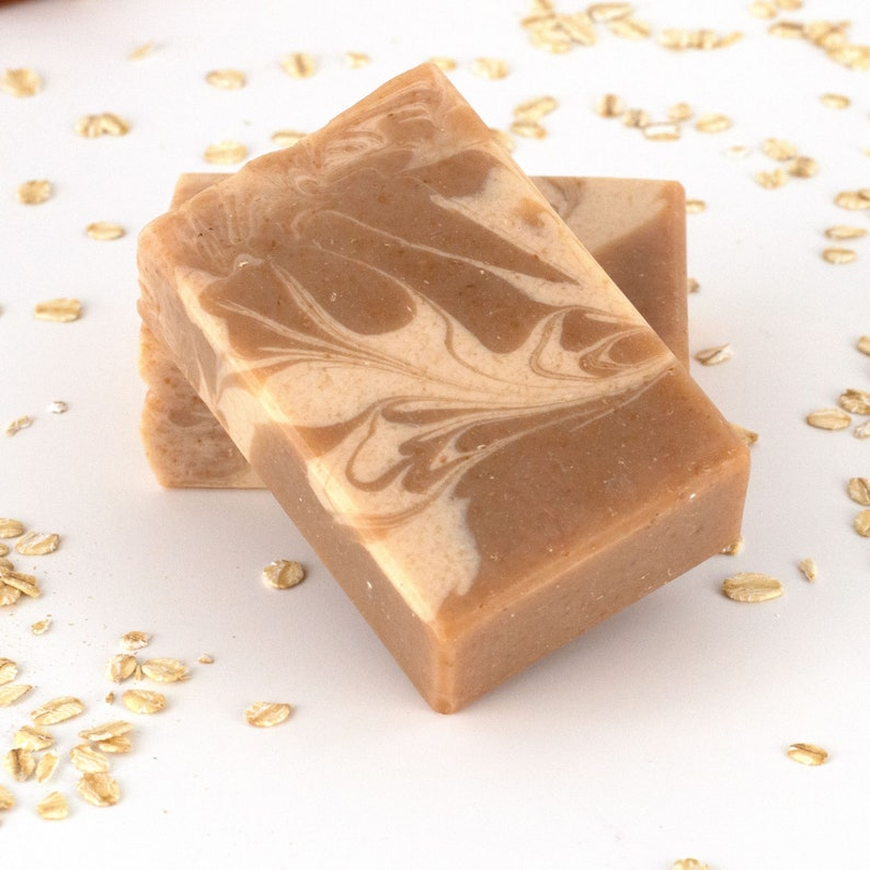 Oatmeal Milk and Honey Handcrafted Goat Milk Soap image 0