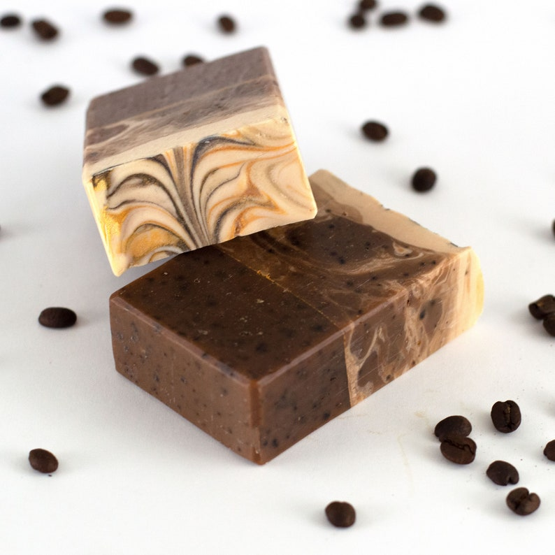 Gift for Coffee Lover  Jamocha Caffeinated Handcrafted Soap image 0