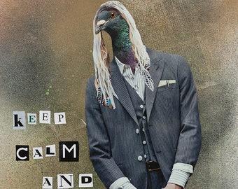 "Collage Print: ""Keep Calm"" by Ian Ball"