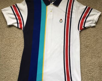 66814189930 ... official store mens vintage 90s chaps ralph lauren vertical striped polo  shirt size large 7eaa9 7a7df