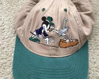 66499d67263 Men s Vintage 90s Disney Mickey Golf Strapback Hat