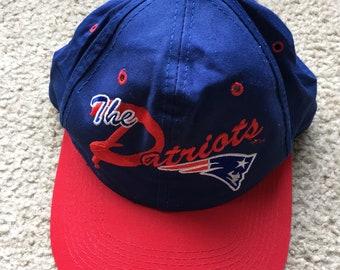 ebdb65ae9f42a Men s Vintage 90s Drew Pearson NFL New England Patriots Snapback Hat