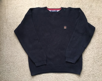 40792736 Men's Vintage 90s Tommy Hilfiger Thermal Sweater Size Large