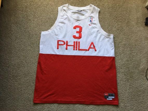 Men s Vintage 90s Team Nike NBA Philadelphia 76ers Allen  cc18c016d