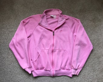 Women's Vintage 80s 90s Nike Gray Tag Pink Track Jacket Size Large