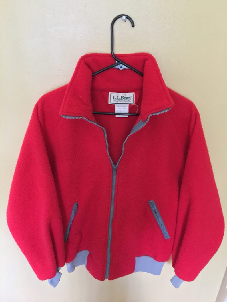 4feb0e302d89c Women s Vintage LL Bean Fleece Jacket Full Zip Size Large
