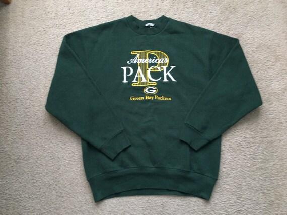 buy popular d4ce2 89f50 Men's Vintage 90s NFL Green Bay Packers Sweatshirt Size L/Xl