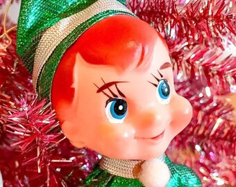 2b042e18a766f Vintage Green Elf On The Shelf