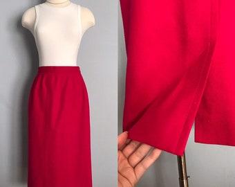 59c3f79cf2 Vintage Pink Wool Pencil Skirt