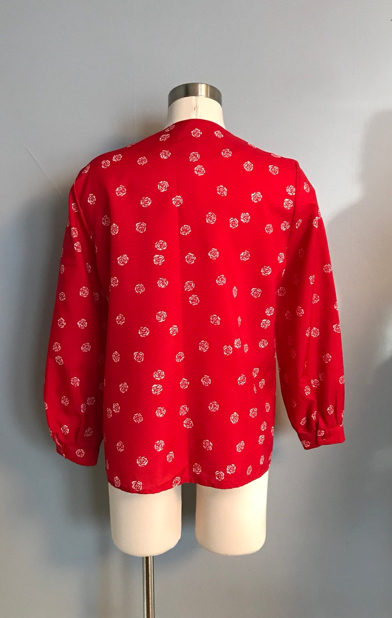 Vintage Smith /& Jones Red Rose Blouse