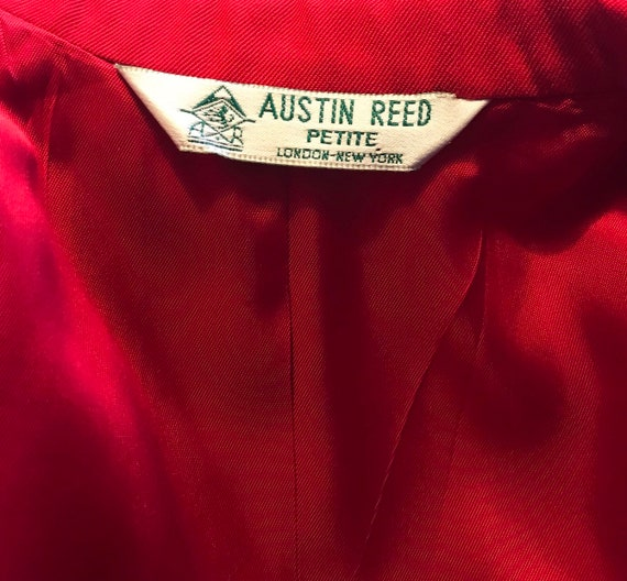 Austin Reed Red Suede Jacket Gem