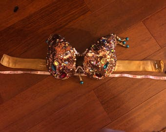 Bronse belly dance costume