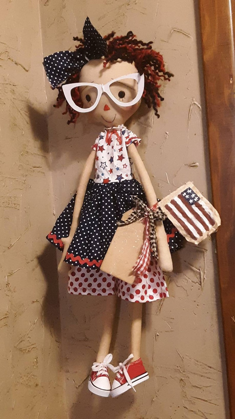 Let freedom ring primitive doll