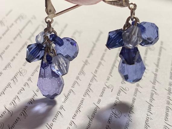 Blue dangling earring