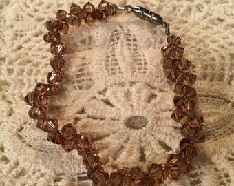 Brown Swarovski Crystals Bracelet