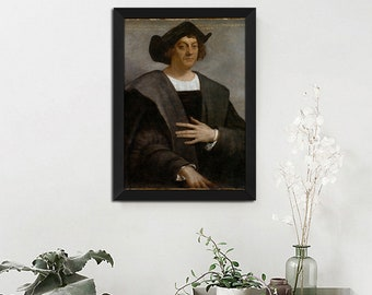 Portrait of a Man Said to be Christopher Columbus Wall Pictures Home Decor Art Posters Prints No Frame 32 inches