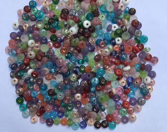 Glass Disc Mix - 9mm -  50g (230 Pieces) - New