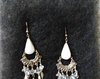 Sterling Silver and mother of pearl earring