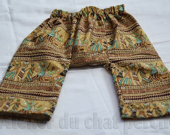 Kids harem pants/trousers, waistband available in 2 sizes, 2 and 4 years old, ethnic fabric