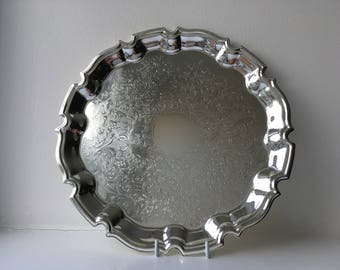 Vintage silver Chippendale tray The Cavalier Range from The Mayfair Collection boxed