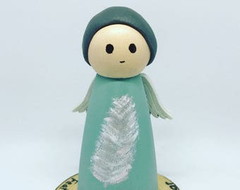 Feathers Peg Doll