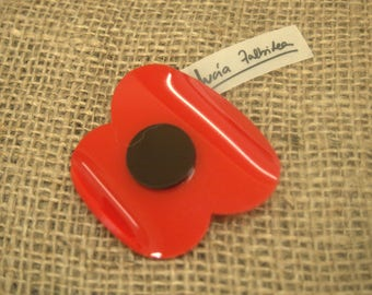 Poppy Flower Pin