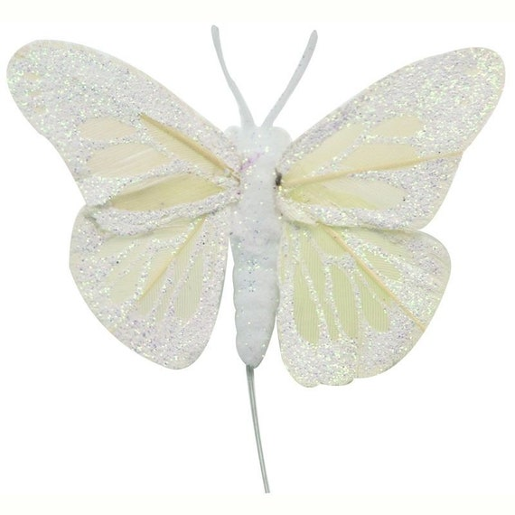 12 x Quality Feather Butterflies 2.75 inch Assorted Colours Craft Art Wedding