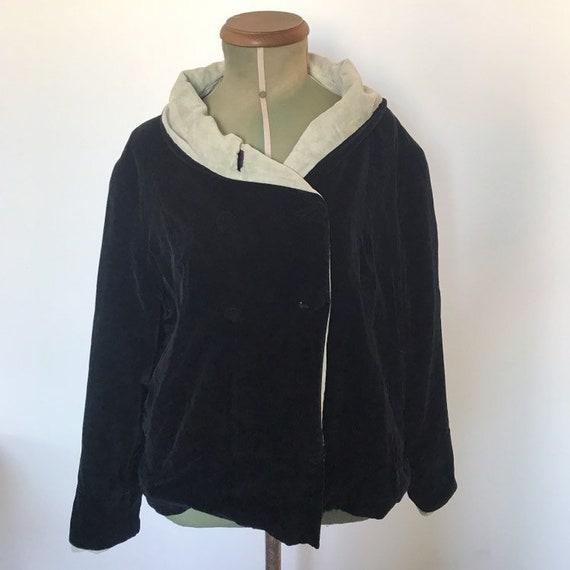 1930s Black Velvet Opera Coat