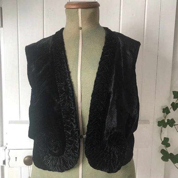 1930s Velvet Waistcoat Jacket
