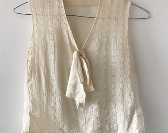 1920s Cream Top/Blouse