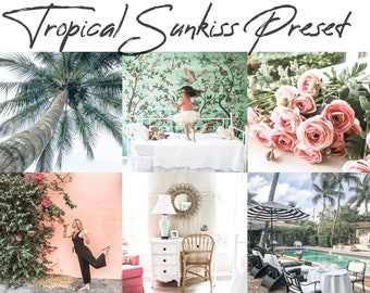 Tropical Sunkiss Preset - Coral and Mint - Mobile Lightroom - House Mix Blog