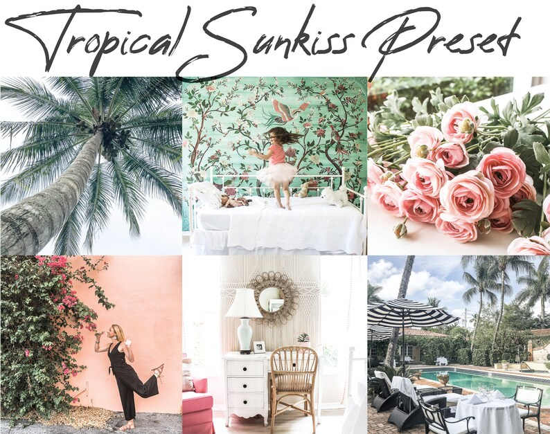 Tropical Sunkiss Preset  Coral and Mint  Mobile Lightroom  image 0
