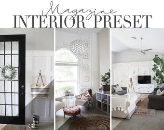 Magazine Interior Presets for Mobile & Desktop / Instagram Preset Filter / Blogger Preset