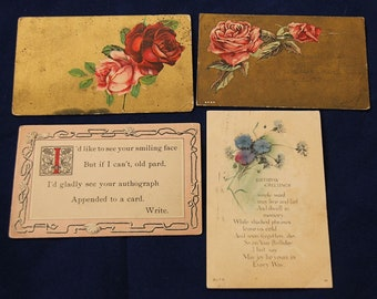 Lot of Four Vintage Post Cards