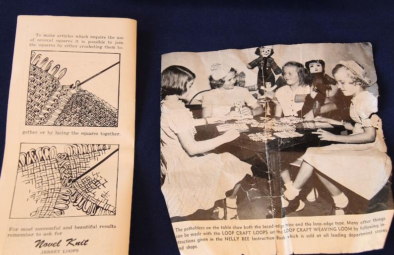 Vintage Novel Knit Potholder Loom in Original Box with Instructions
