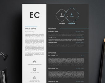 Professional Resume, CV Resume, Modern CV Resume, Instant Download, Creative Resume Template, Word Resume Template, Digital Resume Template