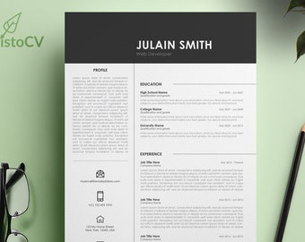Creative Resume Template, CV Resume Template, MS Word Resume, Curriculum Vitae, MS Word Template, Cover Letter, Reference Letter