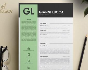 Marketing Istant Resume | Marketing Resume Template Cv Template Cv Resume Curriculum Etsy