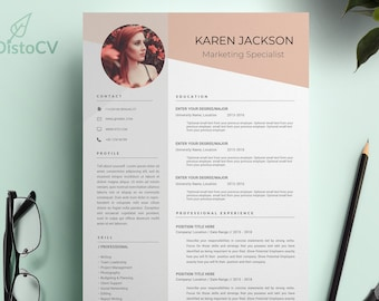 CV Template, Resume With Photo, Curriculum Vitae, Reference Template, Cover Letter Template, Modern Resume Template, Work Resume, Modern