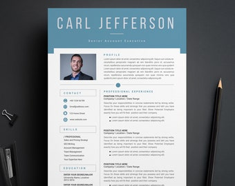 Creative Resume Template, CV Resume Template, Modern CV Resume, MS Word Resume, Instant Download, Professional Resume Template, Word Resume