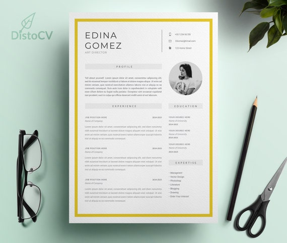 Modern Resume Template For Word, OpenOffice, Resume Template, CV Template,  Curriculum Vitae, Director CV Template, Instant Download