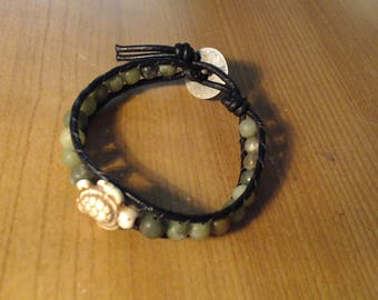 Wrap it with Turtle and Green beads