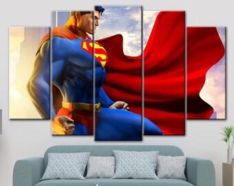 Superman canvas, DC comics canvas, Superman canvas art, Superman canvas art, Superman art, Superman print, DC Comics Superheroes, DC art