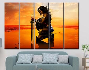 Wonder Women print, DC Comics Superheroes, Wonder Women, DC canvas, Wonder Women canvas, Poster Prints, Set of 3 Canvas, Wonder Women
