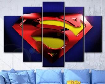 Superman canvas, Superman art, Superman canvas, Superman canvas art, DC comics canvas, Superman print, DC Comics Superheroes, DC art