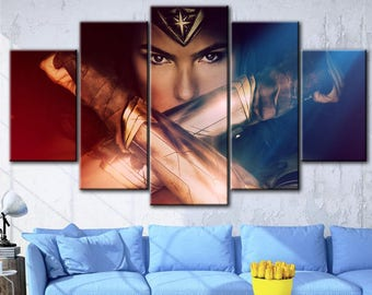 Wonder Women, DC canvas, Wonder Women print, DC Comics Superheroes, Wonder Women canvas, Poster Prints, Set of 3 Canvas, Wonder Women