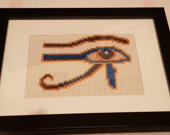 Eye of Horus Cross Stitch Picture