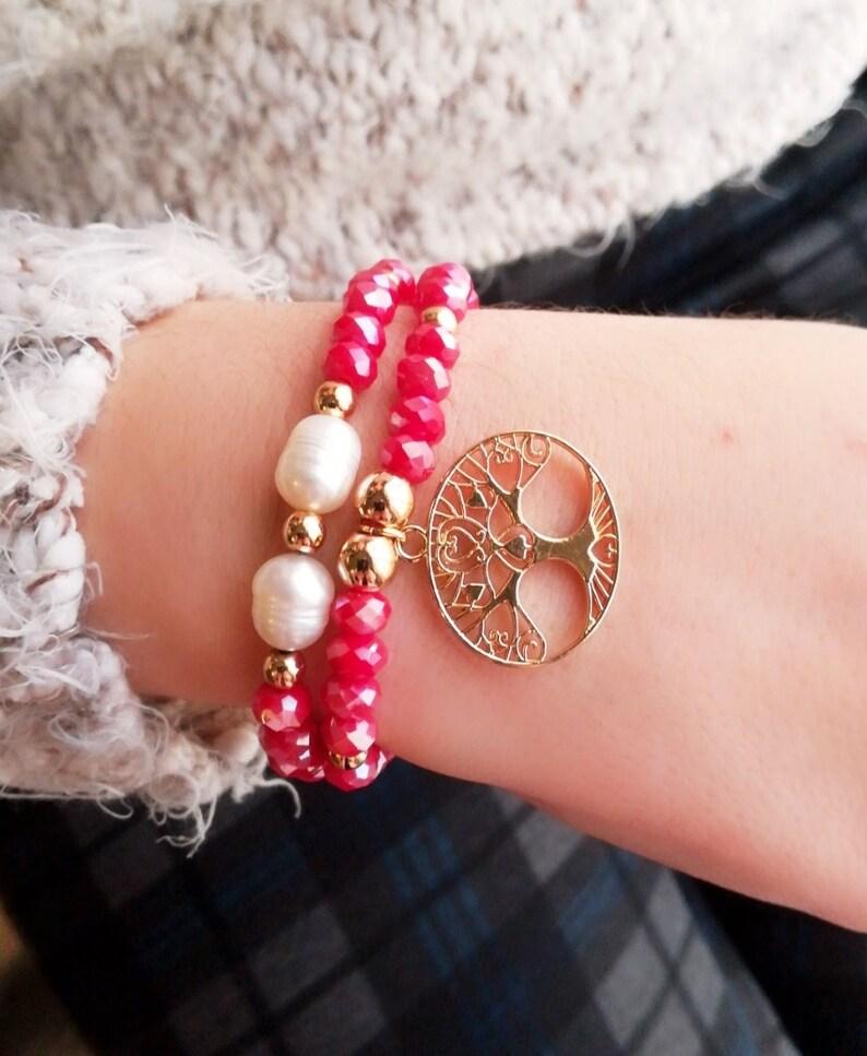 50aaa3c085fe Dúo pulseras pulsera Navidad pulsera mujer pulsera de moda
